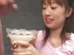 Japanese cum drinking