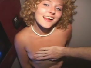 Cute shirley sucks through glory hole
