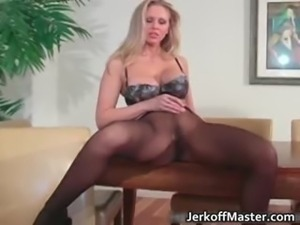Sexy blonde MILF is stripping part6