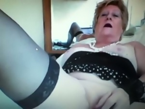 Hot granny teases on webcam 2