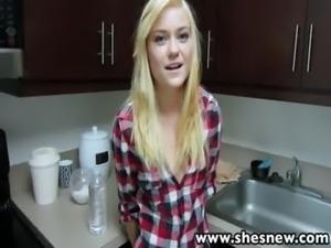 ShesNew Skinny blonde teen Chloe Foster POV homemade sex free