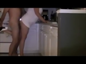 Amateur wife in high heels fucked in kitchen free