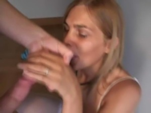 Amateur blonde shemale suck, fuck and facial