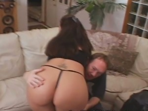 Slut brunette wife gets a lesson