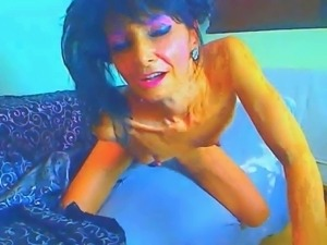 gorgeous 52 year old granny strips and plays