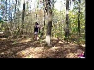 Kornelia crossdresser in the forest