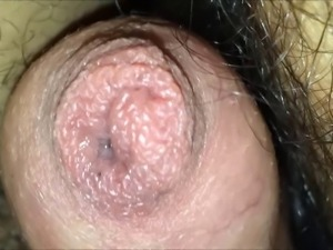 My cock cums through tight foreskin