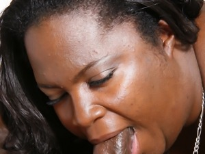 Big black babe has a pretty fat ass to nail