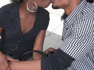Ebony honey Slim Goodies rammed hard