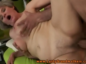Grandmother gilf bounces on hard cock and loves it