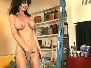 Pretty and crazy milf Anastasha White sucks her stepsons cock and gets pleasure