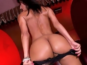 Busty brunette Franceska Jaimes gets wild while having huge cock drilling her...