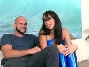 Jmac manages to seduce arousing sexy with sexy body Nina Lopez over by the pool