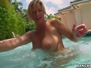 Jodi West is s good looking blond MILF who is
