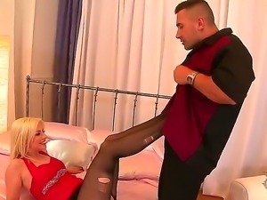 Amazingly hot, mesmerizing blonde Jessie Volt makes this guy wild with her...