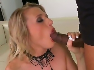 Blondie Michelle Moist has never tasted such long and succulent black pecker...