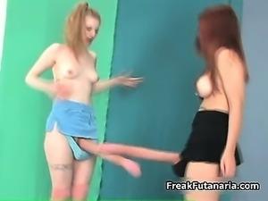 Sexy blonde and redhead sluts go crazy part5