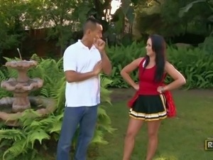 Ally Style is a horny cheerleader. She spreads her legs
