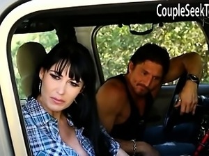 Hitchhiker Cali gets picked up by couple