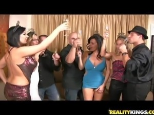 Turned on lusty milfs Brianna Ray and Kristen Cameron with