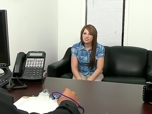Young 18 years old babe Nadia Cox came for an audition today and she ist...