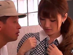 Innocent Tsubasa Amami gets her horny pussy ravished by several lusty strangers