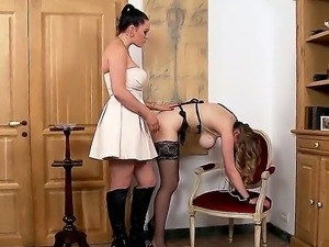 Hello people! Today you will see a hardcore and sexy lesbian scene with nasty...