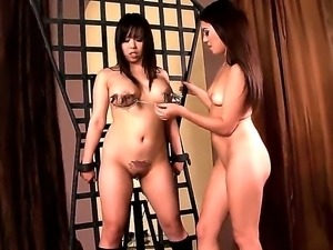 Hot lesbians Tiffany Doll and Tigerr Benson are having a nasty BDSM lesbian...
