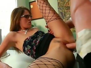 Jordan Ash gets seduced by horny colleague Kara Price into fucking her tight...