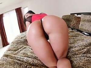 Brunette with big ass Kendra Lust gets it hard fucked by hunk Kevin Moore