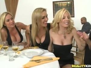 Three beautiful milfy blondes Tyler Faith, Holly Sampson and Tanya