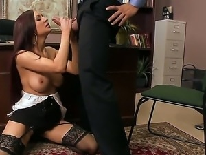 Amy Ried meets in her office Ramon - the who fucked her yesterday in the...