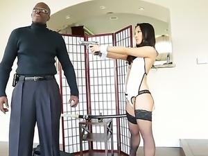 Amazing interracial scene with pornstars named Asa Akira and Lexington Steele