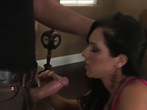 Brunette Camryn Kiss enjoys playing with a stiff cock in one wild hardcore...