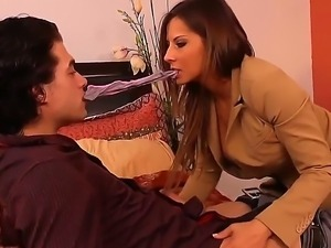 Have a look at beautiful glamourous brunette chick Madison Ivy getting fucked...