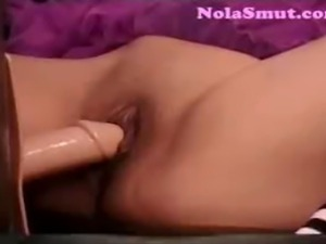 Hot ebony Alicia Tease fucking machine solo