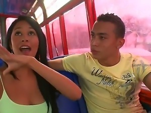 Hardcore bang bus with sweet Latina Natasha who has delicious boobs and a...