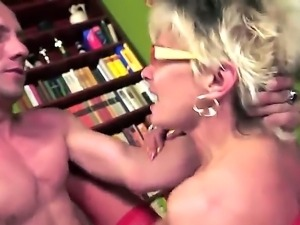 Mature blonde Jessye enjoys massive cock in naughty hardcore fuck session