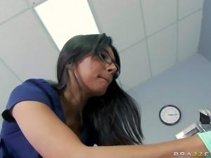 Good looking black haired bitch Shazia Sahari with smoking hot