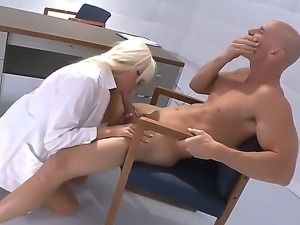 Ultra stunning and buxom Doctor Rikki Six can cure any disease with her...