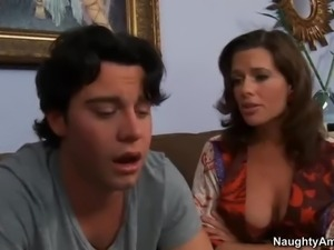 Big racked cougar Veronica Avluv seduces her son's buddy Seth