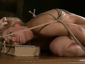 Crazy hot mistress Kathia Nobili bondaged and punishes her girlfriend Salome