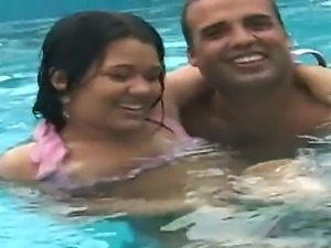 Welcome to the naughty pool where our nice Latin couple Anselmo and Jolie are...