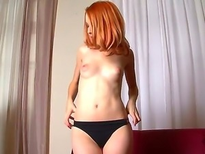 Teen babe Amarna Miller takes off her clothes to showcase her slender body