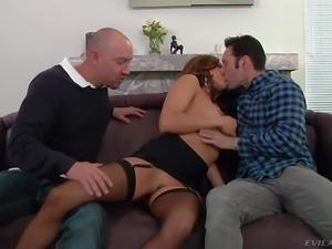 Lusty brunette milf Francesca Le with big juicy tits in