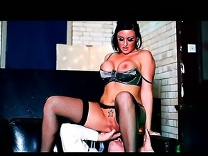 Luscious Lissa Love in sexy stockings is making Marc Rose weak in his knees...
