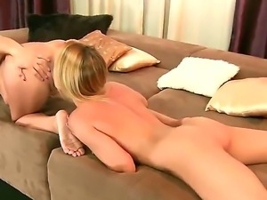 Sweet and sexy lesbian action with amazing babies named Blue Angel and Szandi