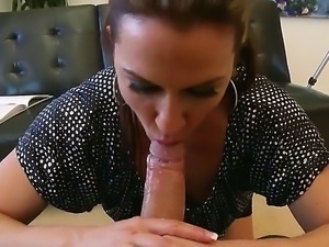 Enjoy delicious steamy brunette whore Inari Vachs sucking hard big dick of...