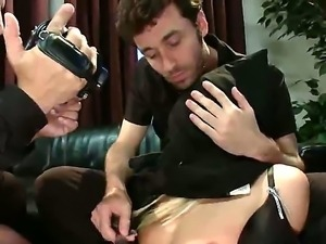 Amy Brooke gets fucked hard by James Deen and his friend Mr. Pete on the camera