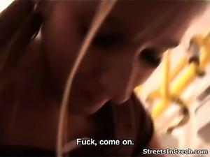 Czech girl picks up from the streetand
